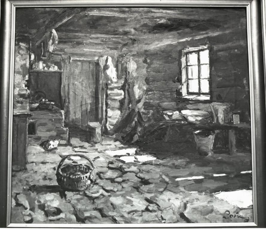 Maal «Taluköök», V. Loik, 1958 (õli, lõuend)