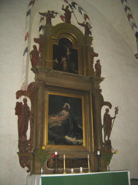 Altarisein. Chr.Ackermann, 1709 (puit, polükroomia) Foto: S.Simson 22.05.2007