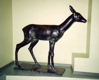 Skulptuur «Metskits», J. Koort, 1929 (pronks). Deposiidina TLM-is. Foto: V. Leitsar, 2005
