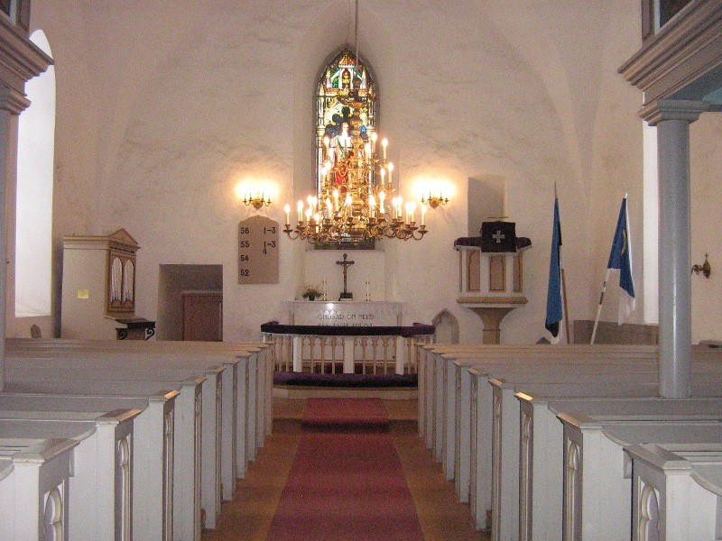 Kolga-Jaani kiriku sisevaade. Foto: Anne Kivi, 06.03.2012