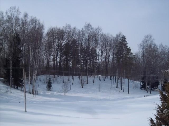 Konuvere linnuse territooriumi vaade põhjapoolt. Foto: K. Klandorf, 26.02.2013.