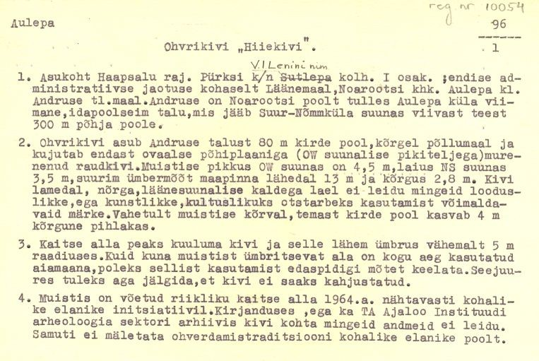 Pass 1  Autor M. Mandel  Kuupäev 01.08.1973