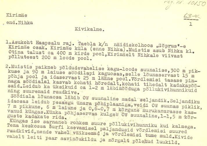 Pass 1  Autor M. Mandel  Kuupäev 01.05.1980