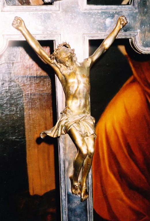 Altarikrutsifiks, 19.saj. (raud, malm(?), pronks). Detail. Foto: Sirje Simson 2004