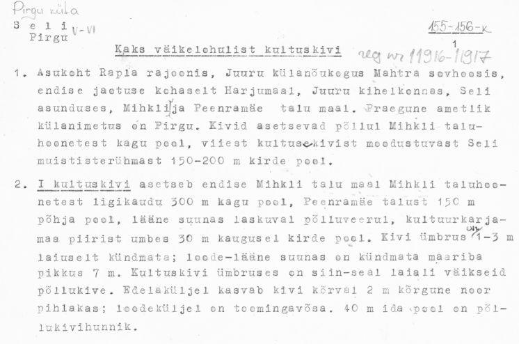 Pass 1  Autor E. Tõnisson  Kuupäev 01.10.1981