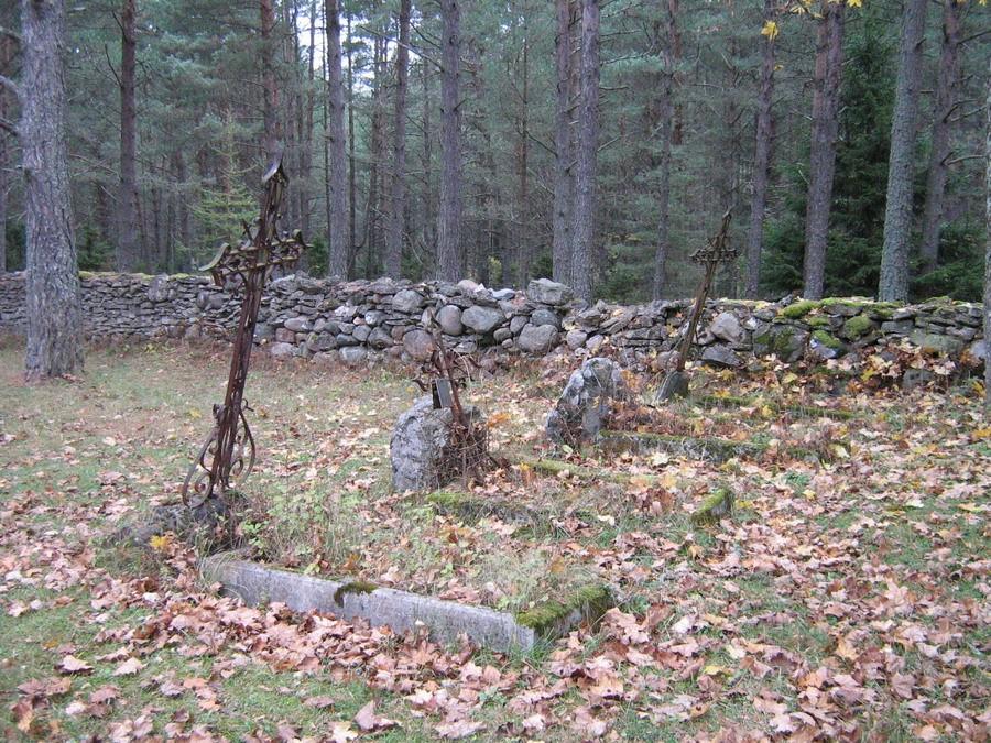 Hauatähised kirikuaia põhjaosas  Autor Kalli Pets  Kuupäev  25.10.2007