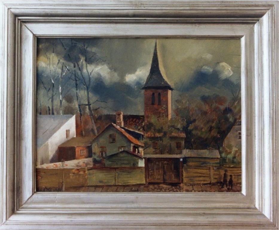 Maal «Tartu motiiv», E. Ole, 1934 (õli, vineer) Foto: Jaanus Heinla 2001