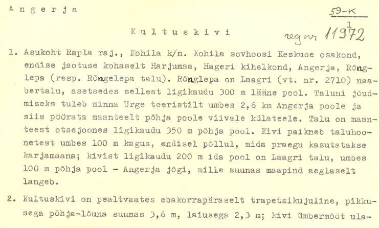 Pass 1  Autor E. Tõnisson  Kuupäev 01.10.1973