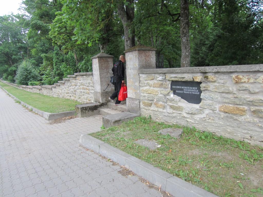 15663 Kadrina kirikuaia piirdemüür, foto: 27.06.2013 Anne Kaldam