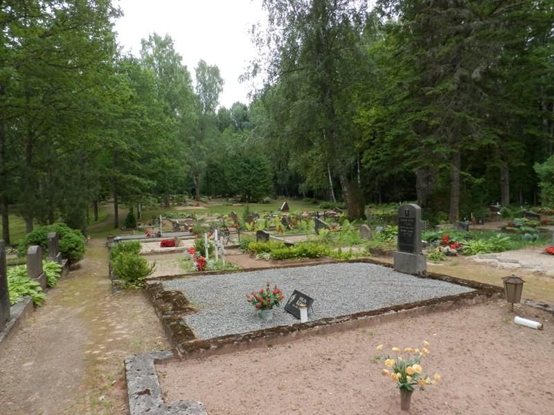 Vaade  Mõisaküla kalmistule Foto Anne Kivi 30.07.2013