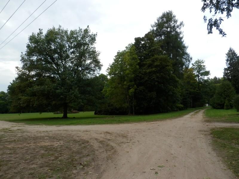 Karksi mõisa park lõunapoolselt teelt vaadates Foto Anne Kivi, 10.09.2013
