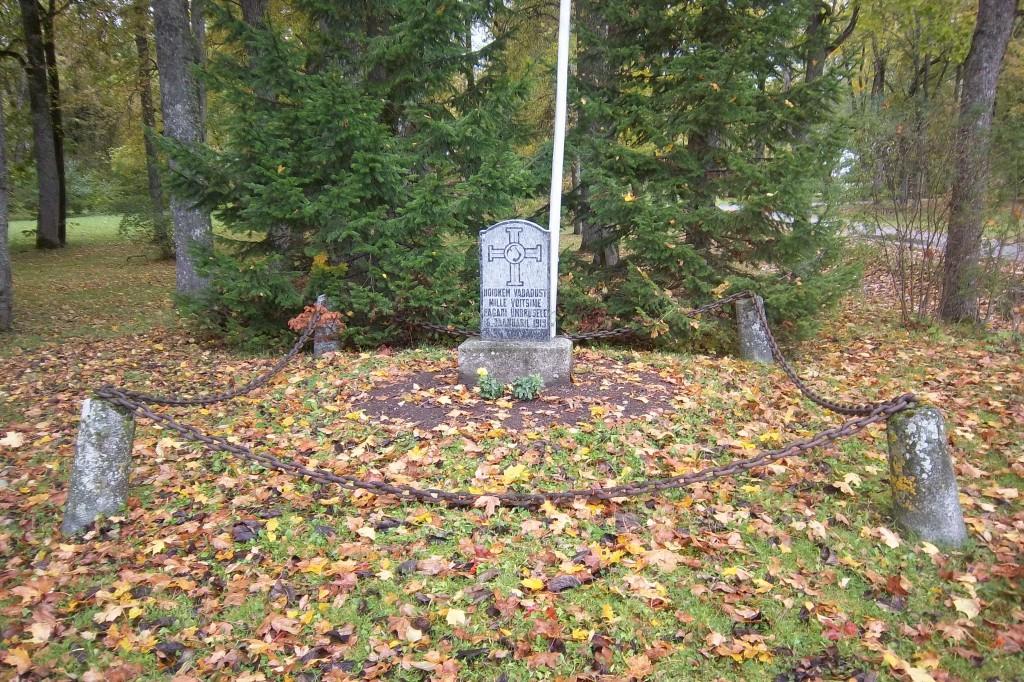 Vabadussõja Pagari lahingu mälestussammas. 30.09.2013.a. Foto: Kalle Merilai