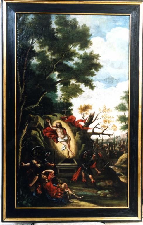 Maal «Ülestõusmine», 17. saj. II pool (õli, lõuend). Pärast konserveerimist 2004. Foto: J. Heinla, 2004.