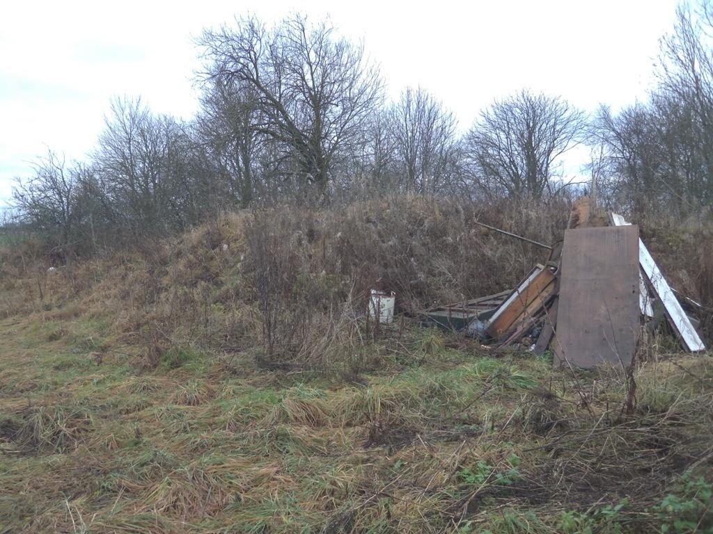 """Kalmistu """"Kauleni ahervars"""", reg nr 10298. Vaade põhjast. Foto: M. Abel, 14.11.2013."""