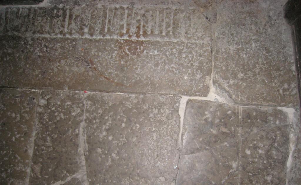 Hauaplaadi detail, 14/15. saj. (paas). Foto: V. Leitsar, 2013.