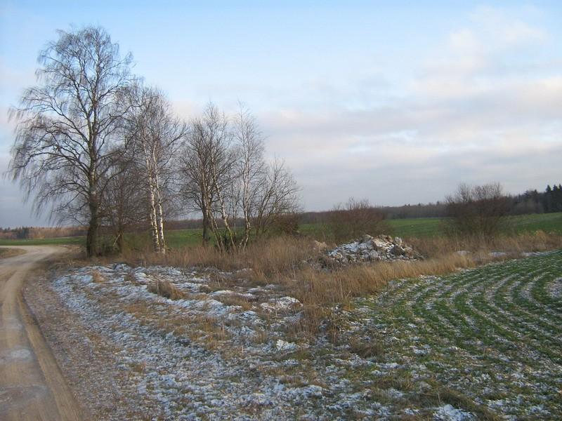 """Kalmistu """"Kääpamägi"""" reg nr 10265. Foto: I. Raudvassar, 03.01.2008."""