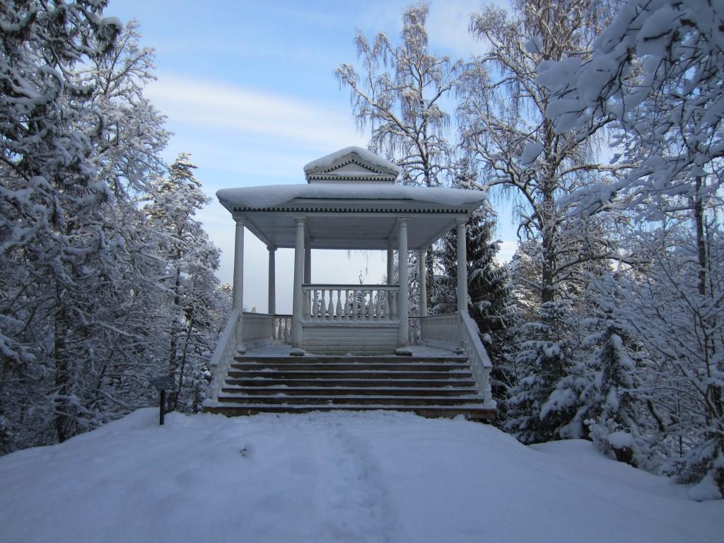 15894 Palmse mõisa park, vaade Bresti paviljoni (reg. nr. 15914) juures enne raietöid. 15.01.2014 Anne Kaldam