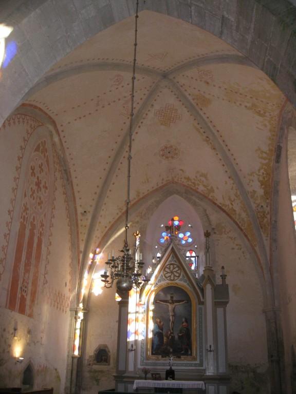 Seinamaalide fragmendid. 13. saj. lõpp või 14. saj. algus (seko) Foto: S.Simson, 12.11.2008