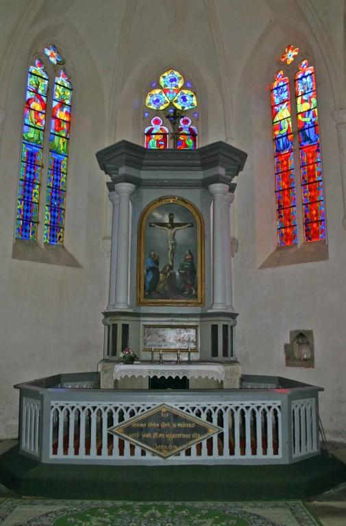Altarisein. N. Lorentzon(?), 1820(?) (puit, õli) Foto: S.Simson, 11.08.2005