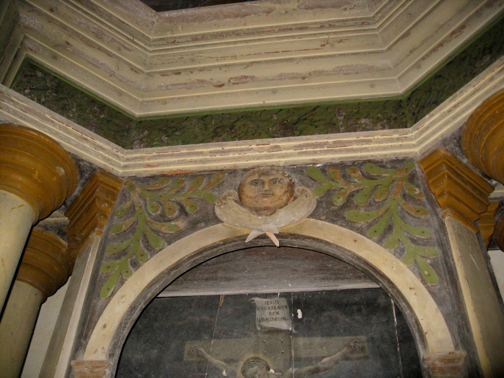 Altarisein. N. Lorentzen, 1827 (puit, polükroomia). Detail. Foto: S.Simson 06.09.2008