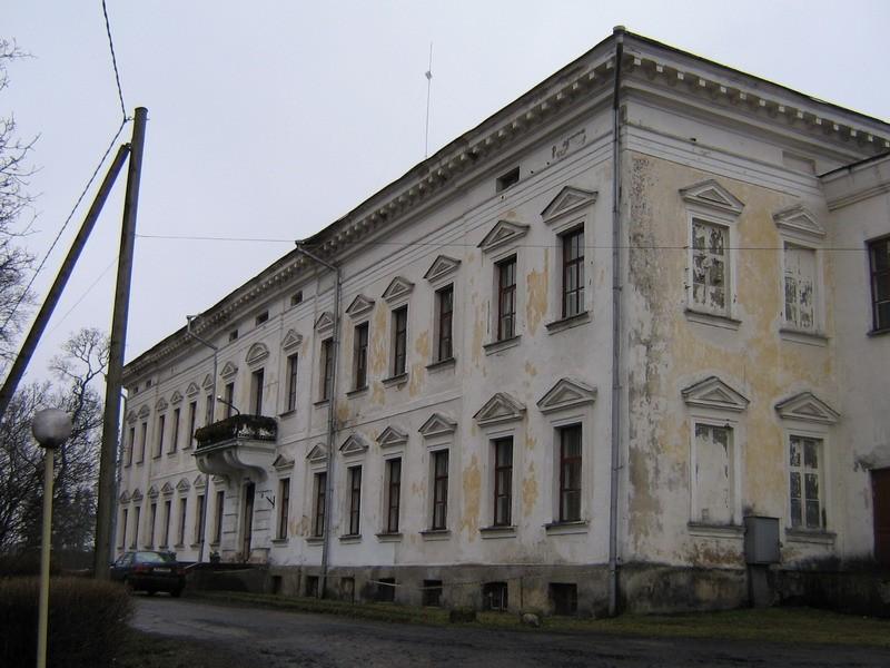 Udriku mõisa peahoone :reg nr. 15679. vaade põhjast näha hoone loode- ja kirdefassaad,  Autor Anne Kaldam  Kuupäev  11.02.2008