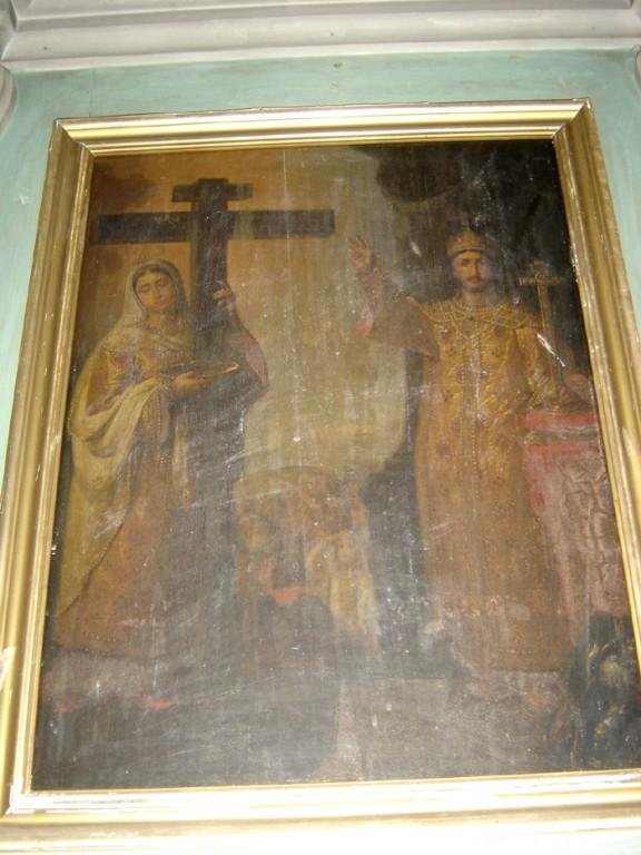 """Ikoon """"Pühad vürstinna Olga ja vürst Vladimir"""" ikonostaasil. 19. saj. II pool (õli, puit) Foto: S.Simson 12.06.2007"""
