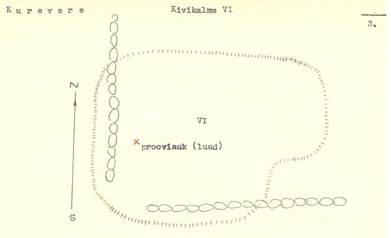 Pass 3 - arheoloogiamälestise pass. MKA arhiiv. Autor V. Lõugas  Kuupäev 01.06.1973