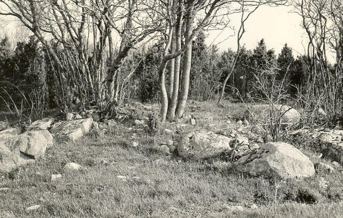 Kivikalme - lõunast. Foto: E. Väljal, 06.05.1983.