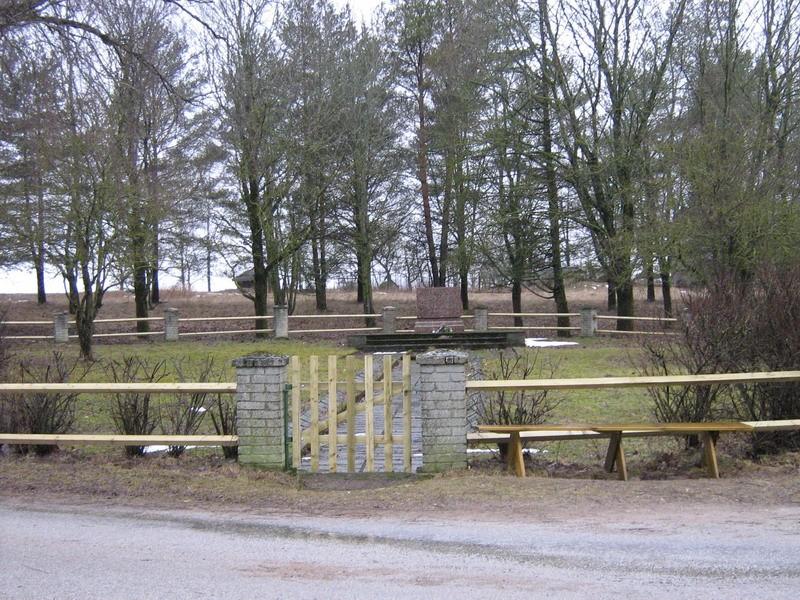 II maailmasõjas hukkunute ühishaud, reg. nr 5786. Foto I.Raudvassar, kuupäev 13.03.2008