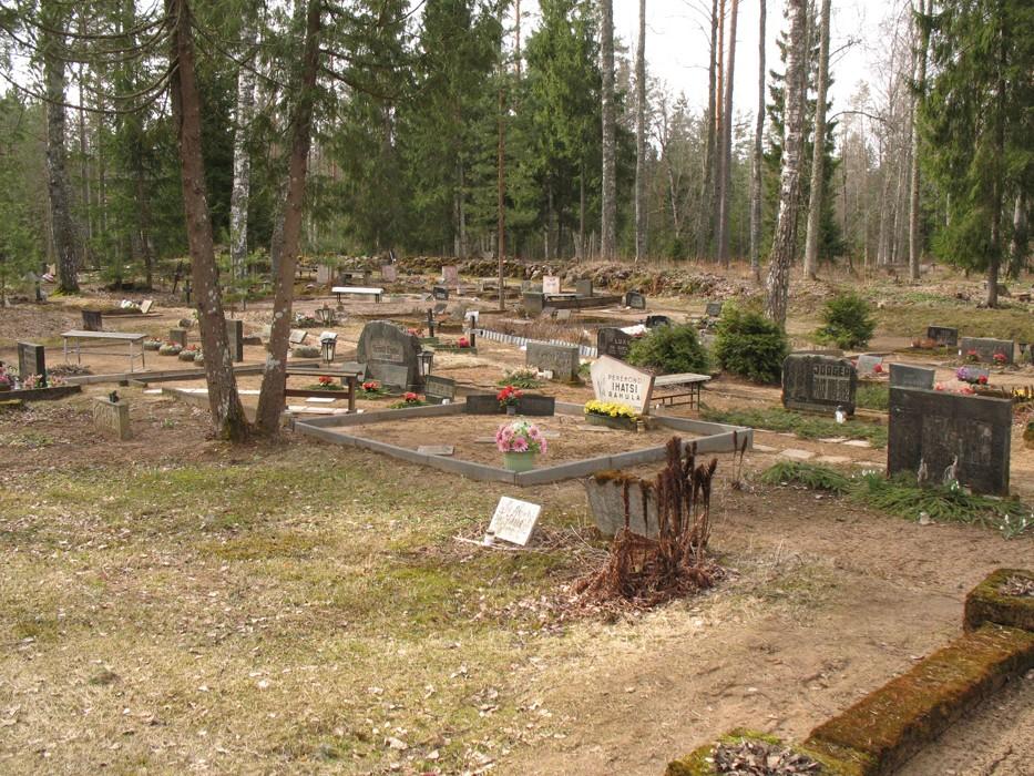Kalmistu kirdepoolne osa. Foto Kersti Siim, 09.04.2014.