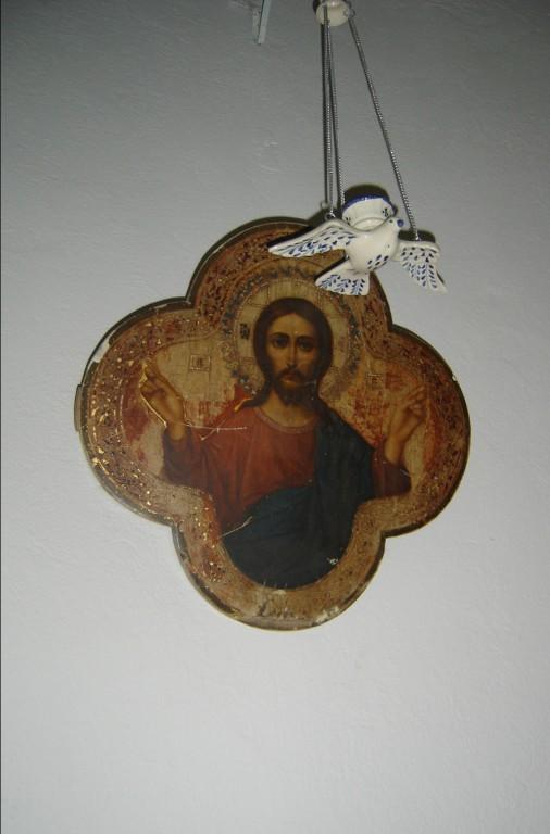 """Ikoon """"Õnnistav Kristus"""". 19. saj. (õli, puit) Foto: S.Simson 28.07.2007"""