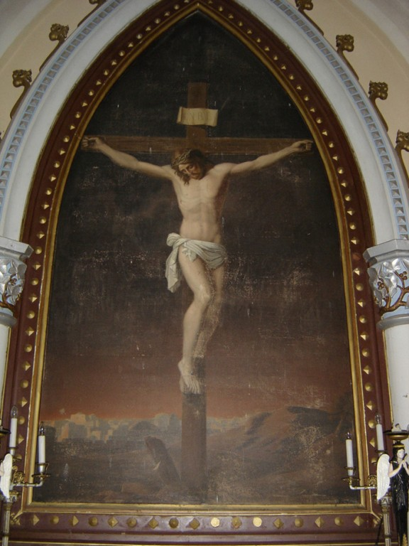 "Altarimaal ""Kristus ristil"". 19. saj. Foto: S.Simson, 26.10.2005"