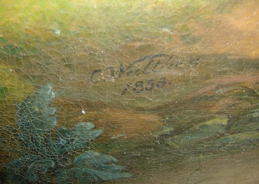 "Altarimaal ""Kristus Ketsemani aias"". C. S. Walther, 1855. Signatuur. Foto: S.Simson 26.10.2005"