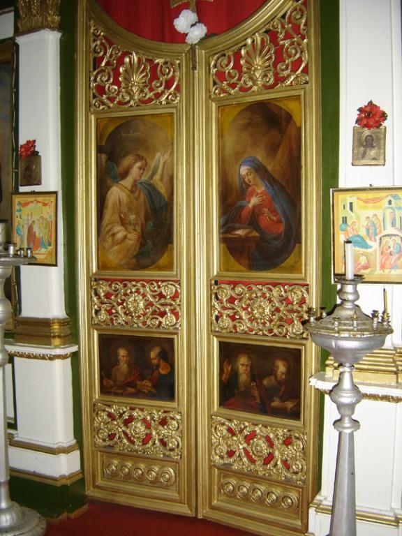 Ikoon Evangelistid Johannes ja Luukas. Ikonostaasi kuninglikel ustel.  Foto: S.Simson 20.08.2006