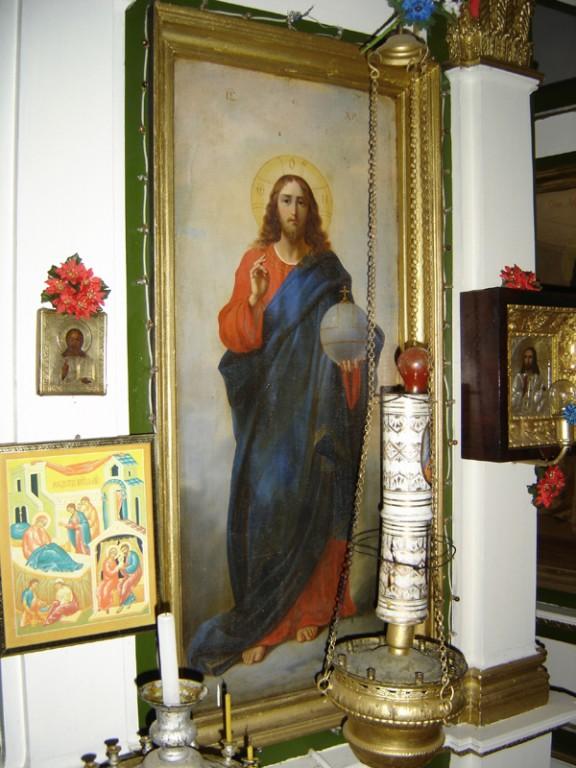 """Ikoon """"Kristus Kõigevalitseja"""" ikonostaasil. Foto: S.Simson 20.08.2006"""