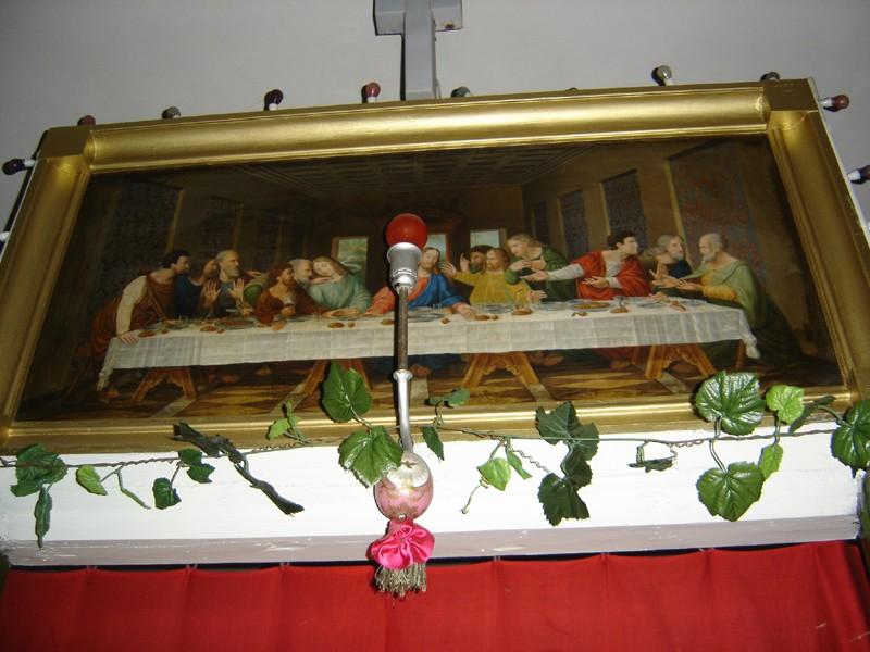 """Ikoon """"Püha Õhtusöömaaeg"""" ikonostaasil. Foto: S.Simson 20.08.2006"""