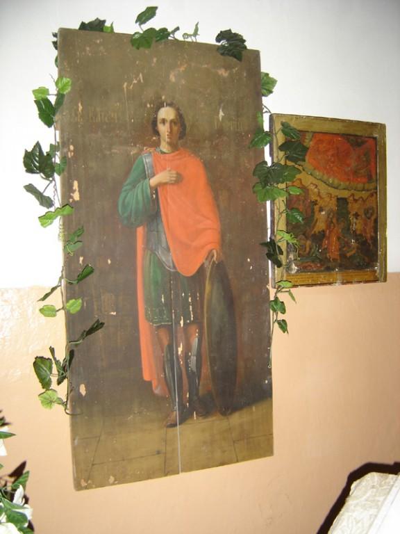 """Ikoon """"Püha Jüri"""" 19.saj. II pool (segatehnika, puit) Foto: S.Simson 20.08.2006"""