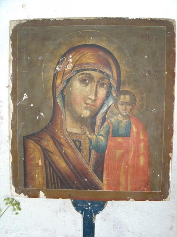 """Kantav ikoon """"Kaasani Jumalaema ja Nikolai Imetegija"""" Foto: S.Simson 20.08.2006"""