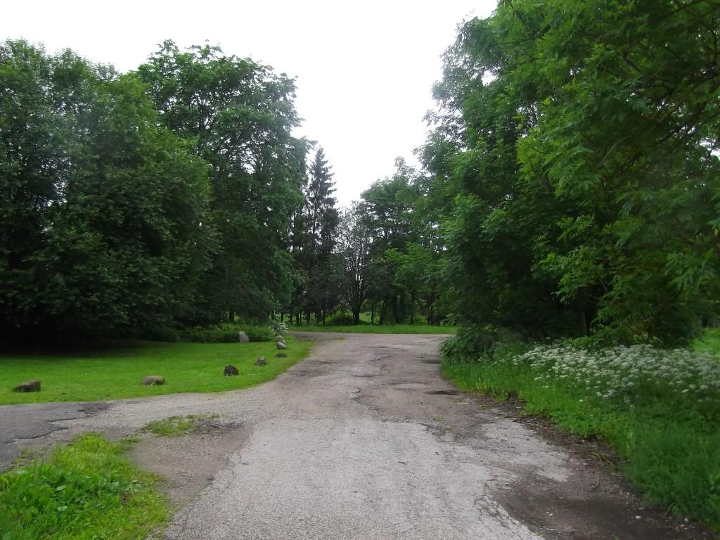 Vaade sissesõiduteelt pargi esiväljakule. Foto Silja Konsa 02.07.2014