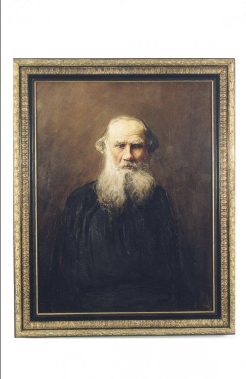 """Maal """"N. L. Tolstoi portree"""" (õli, lõuend) Foto: J.Heinla 2002"""