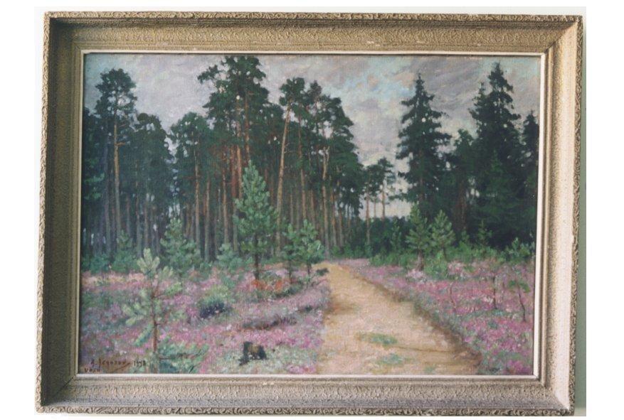 Maal «Pärast vihma», A. Jegorov, 1948 (õli, lõuend) Foto: J.Heinla 2002