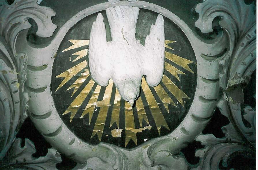 Altarisein. D. Walter, kingitud 1709 (puit, monokroomia). Detail. Foto: S.Simson, 2003