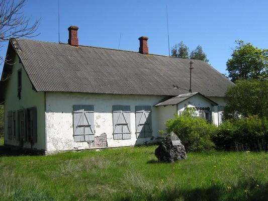 Aluvere külakooli hoone, reg. nr 5782. Foto: I. Raudvassar, kuupäev 23.05.2008