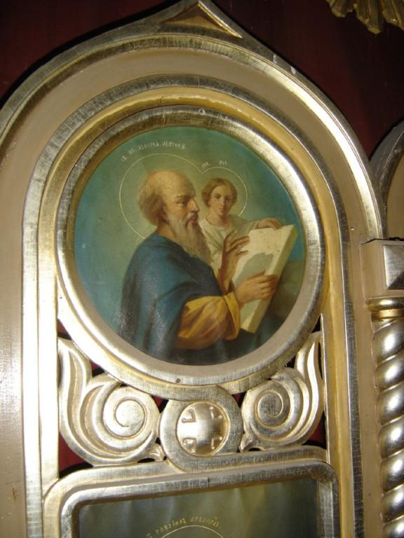 """Ikonostaasi kuninglikud väravad. Ikoon """"Evangelist Matteus"""". Foto: S.Simson 26.10.2006"""