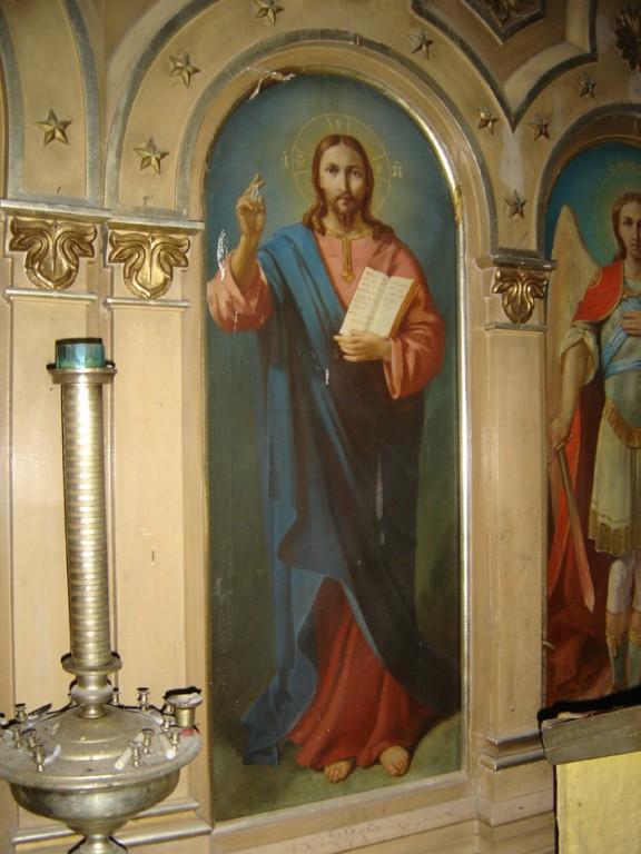 """Ikoon """"Kristus Kõigevalitseja"""" ikonostaasil. Foto: S.Simson 26.10.2006"""