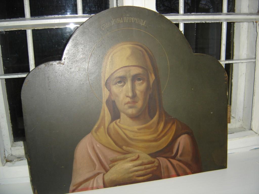 Ikoon ikonostaasilt. Vaga Hanna. Foto: S.Simson 26.10.2006
