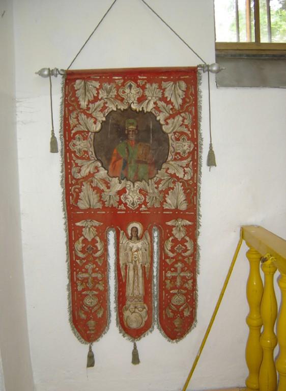 Kirikulipp Ülestõusmise ja Püha Nikolai kujutisega. Foto: S.Simson 12.08.2006