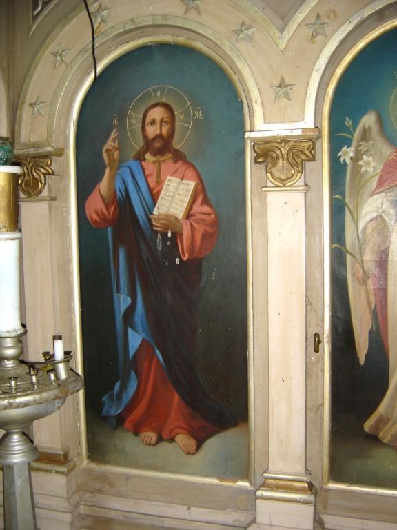 """Ikoon """"Kristus Kõigevalitseja"""" ikonostaasil. Foto: S.Simson 30.04.2007"""