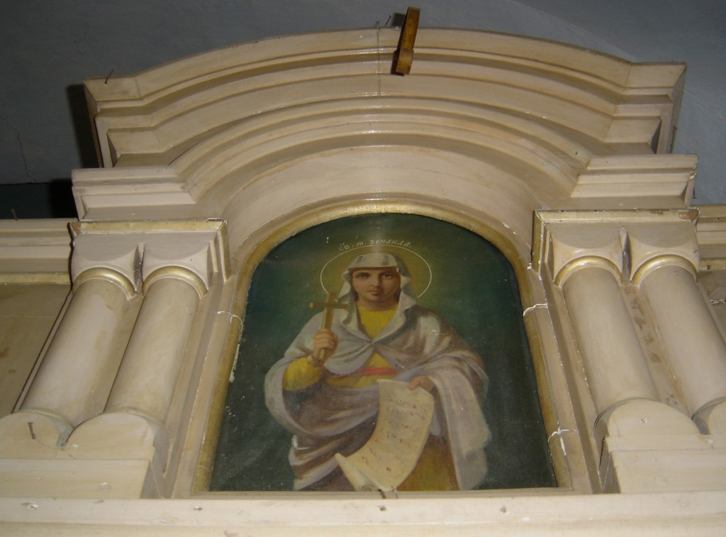 "Ikoon ""Püha Sinaida"" ikonostaasil. Foto: S.Simson 30.04.2007"