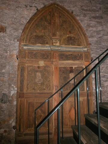 Velise mõisa kabeli uks (paikneb Tallinnas Hobuveskis). Foto: K. Tael 14.11.2014